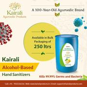 Kairali hand sanitizer – Shop online bulk packs of 250Ltrs